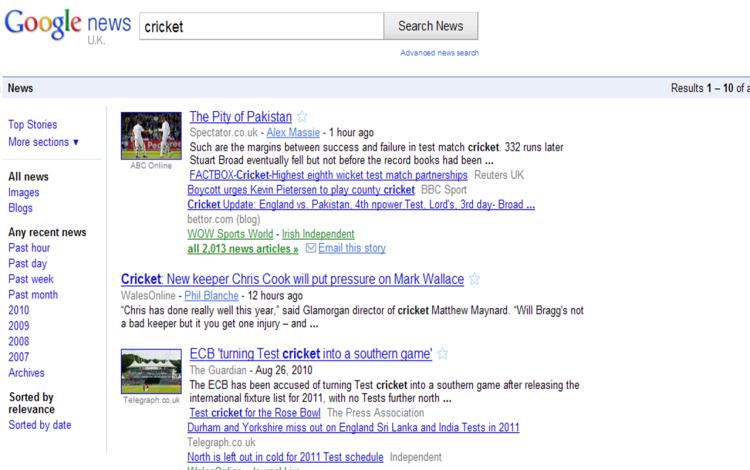 Cluttered Google News