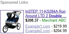 Google Comparison Price Product Listings