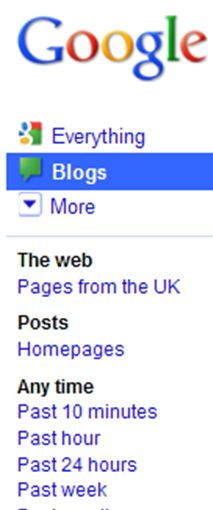 Blog Search Features