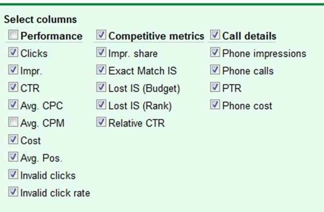 Google Adwords Call Metrics